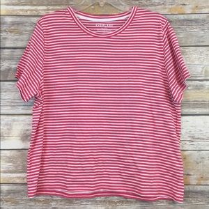 Everlane Red and White Striped Top